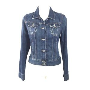 Lucky Brand Denim Jean Jacket Small Petite